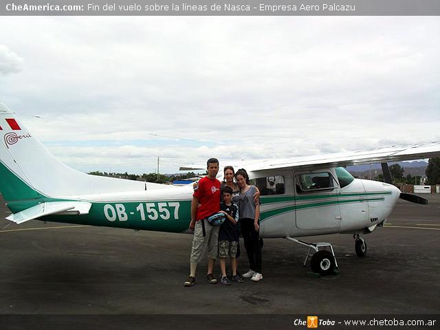 Sobrevuelo Líneas de Nazca Aeropalcazu