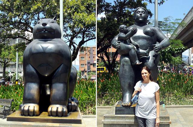 Esculturas en Plaza Botero