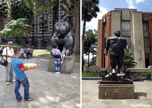 Estatuas plaza Botero Medellín