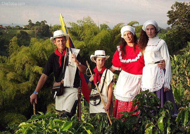 Familia Paisa tradicional Colombia