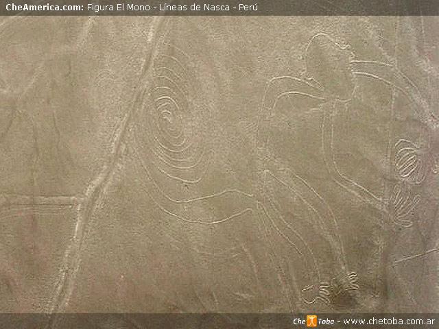 Foto Geoglifo EL MONO - Líneas de Nazca