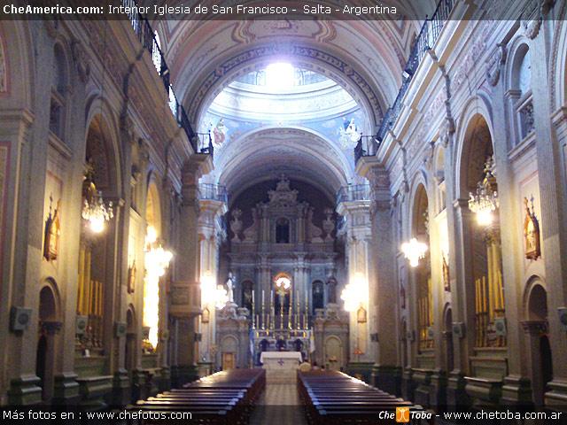 Foto interior Iglesia de San Francisco Salta