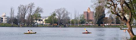 Kayakismo en el lago de Villa María 19