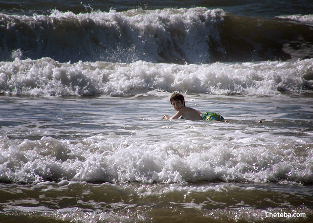 Mar litoral Sur de Brasil