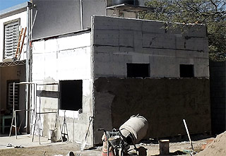 reboque grueso de pared