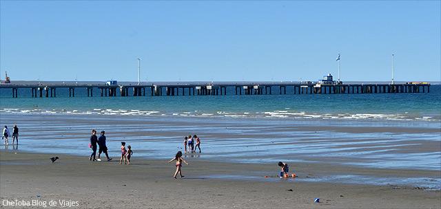Playa verano Puerto Madryn