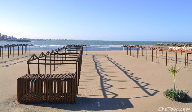Playa de Mar del Plata en Invierno