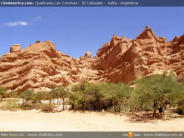 Cafayate Quebrada las Conchas - Paisaje