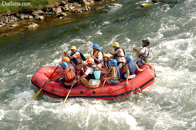 Rafting con chicos