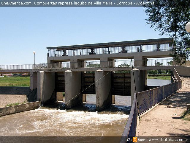 Las compuetas lago Villa María, Córdoba