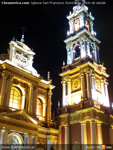 Foto Iglesia de San Francisco - Salta (de noche)
