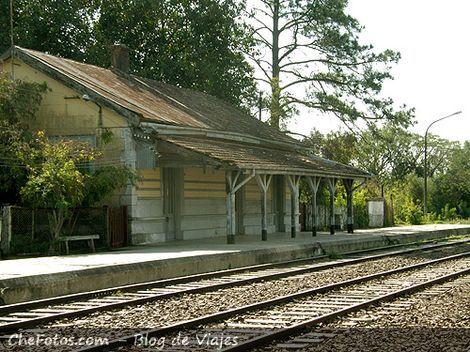 La estación de ferrocarril en Empedrado